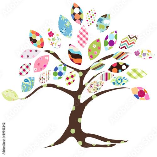 Naklejka tree pattern