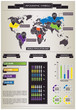 Detail info graphic with World Map and Human Population data