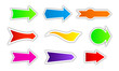 collection of colored arrows