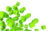 Banner - Fliegende Würfel Grün