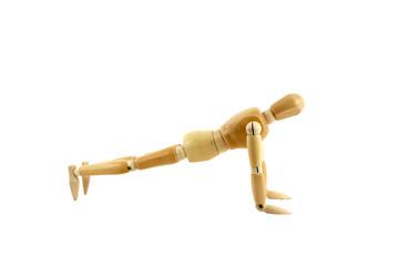 Manikin doing push ups