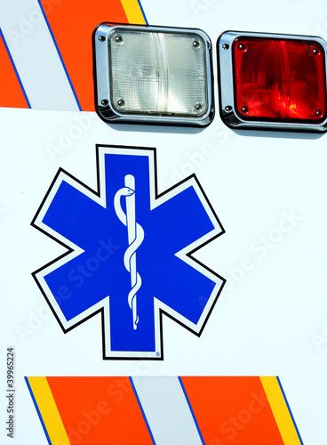 Caduceus on the side of a ambulance
