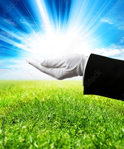 holding sunshine