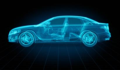 Techincal drawing of a generic car