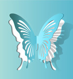 Vector Paper Cut- Out Butterfly