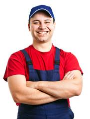 Smiling young mechanic