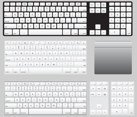 Vector Computer Keyboards and track pad
