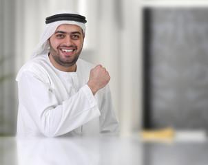 successful arabian businessman / executive in office