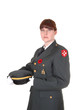 Woman in uniform.