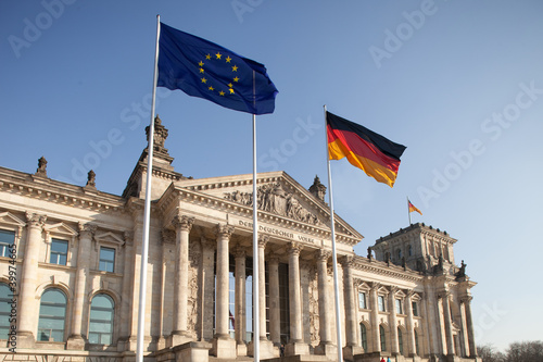 canvas print picture Reichstag - Bundestag in Berlin