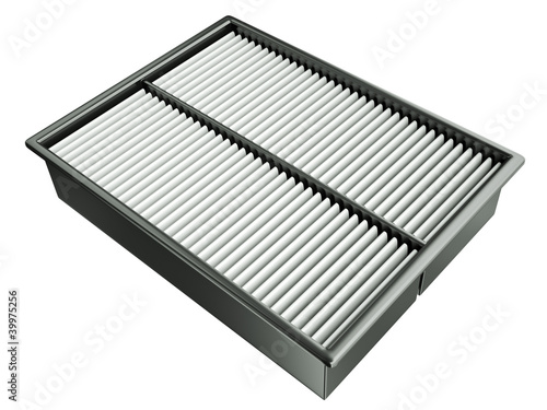Automotive air filter. 3D render