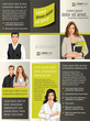 Yellow and black template for advertising with business people