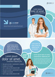 Fototapety Medical template for advertising brochure with doctors
