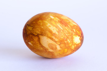 Closeup of Golden Marbled Easter Egg