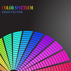 Color spectrum on a dark background