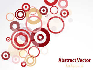 Abstract circle backdrop with copy space