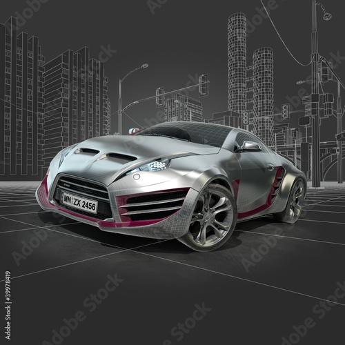 srebrny-sportowy-samochod-oryginalny-projekt-samochodu