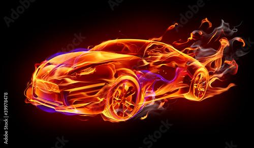 obraz PCV Samochód strażacki
