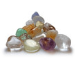 Pyramid of gemstones, soft blur