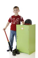 Baseball Boy by Locker