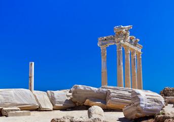 Old ruins in Side, Turkey