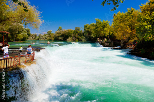 Leinwanddruck Bild Waterfall Manavgat at Turkey