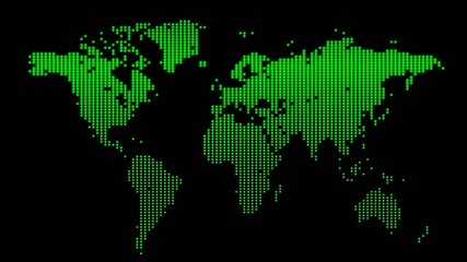 Earth map green animated (loop)