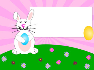 Easter background with black card