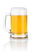 Mug fresh beer isolated over a white background