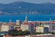 Zadar cityscape and Island of Ugljan