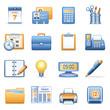 Icons for web blue orange series 2