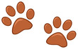 Brown Paw Prints