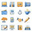 Icons for web blue orange series 3
