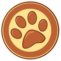 Brown Paw Print Banner