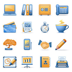Icons for web blue orange series 3