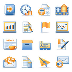 Icons for web blue orange series 5