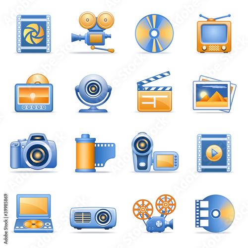Icons for web blue orange series 8