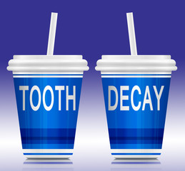 Tooth decay concept.