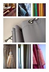 Rideau, ameublement, intérieur, décoration, tissu, tringle