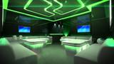 Fototapety Green cyber interior room