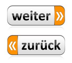 Weiter & zurück Buttons