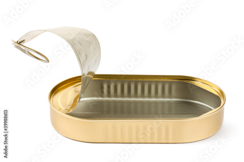 Empty opened oblong tin - 39988613