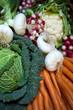Marché, légumes, frais, bio, aliment, cuisine, panier