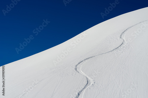 canvas print picture Spuren im Schnee