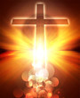 glowing cross