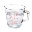 Water in measuring cup