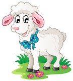 Cute cartoon lamb
