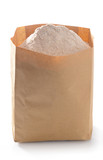 Whole flour in paper bag