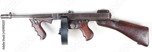 Leinwanddruck Bild old mashine gun