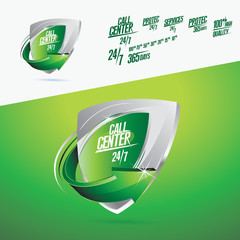 Call-center icon 24/7 Vector